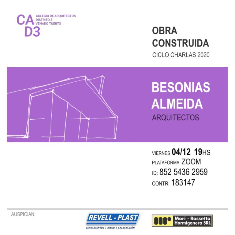 CHARLA OBRA CONSTRUIDA BESONIAS | ALMEIDA | ARQ