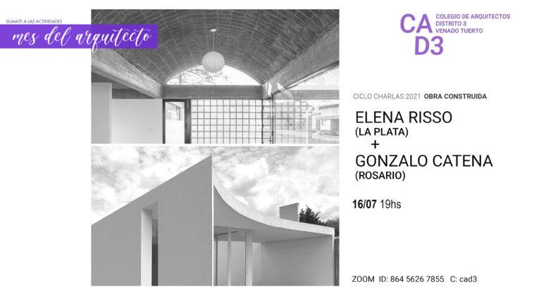 CICLO DE CHARLAS 2021 – ELENA RISSO (LA PLATA) + GONZALO CATENA (ROSARIO)